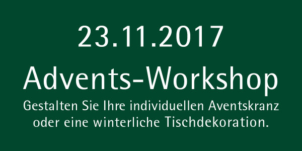 Advents-Workshop in der Baumschule Dietrich