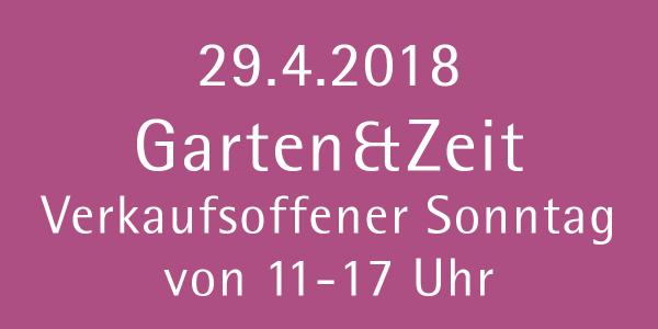 Garten & Zeit verkaufsoffener Sonntag